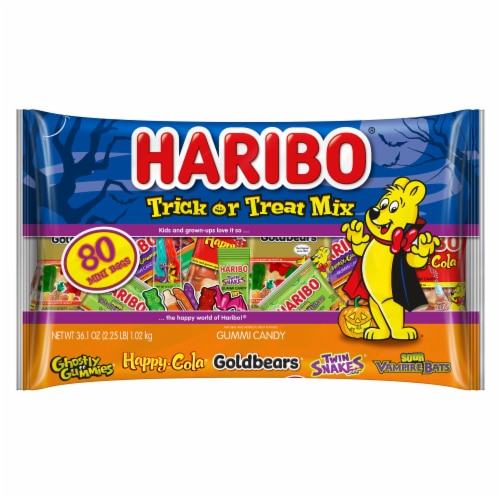 Haribo Trick or Treat Gummy Candy Mix Perspective: front