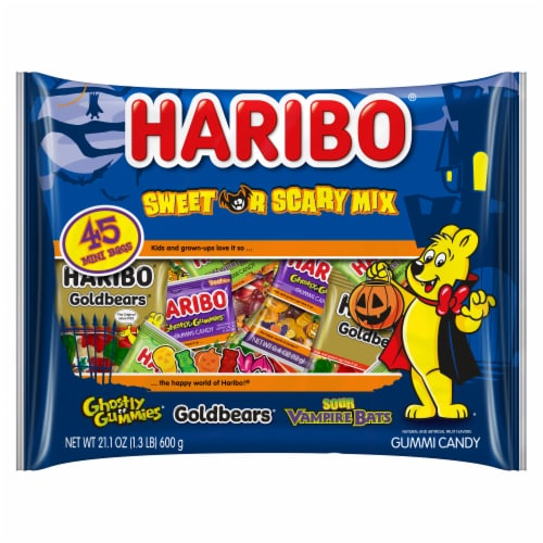 Haribo Sweet or Scary Gummy Candy Mix Perspective: front