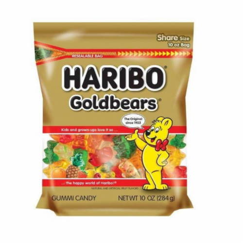 Haribo Gold Bears Gummi Candy Perspective: front