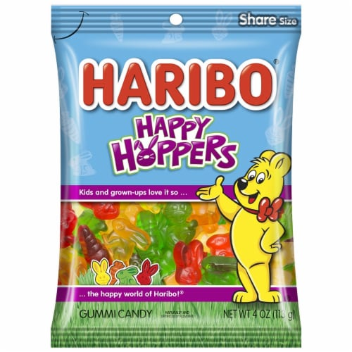 Haribo Happy Hoppers Gummi Candy Perspective: front