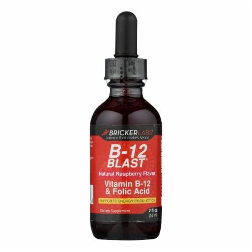 Bricker Labs Blast B12 Natural Raspberry Vitamin B12 and Folic Acid Perspective: front