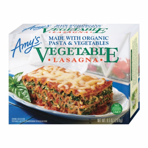 Amy's Vegetable Lasagna Frozen Meal Perspective: front