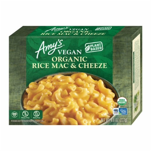 Amy's Vegan Rice Macaroni & Cheeze Frozen Meal Perspective: front