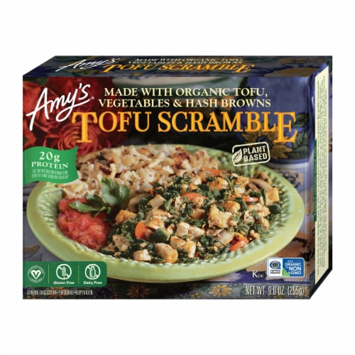 Amy's Tofu Scramble Frozen Meal Perspective: front