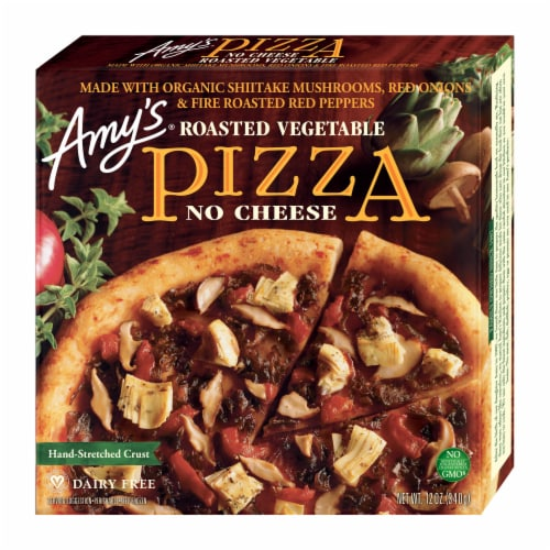 Amy's Roasted Vegetable No Cheese Pizza Perspective: front