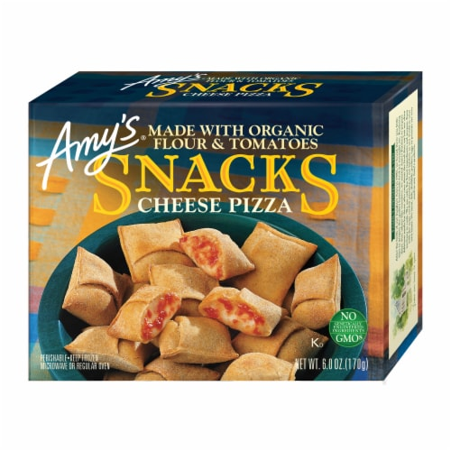 Amy's Cheese Pizza Snacks Perspective: front