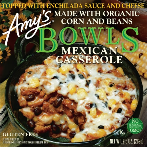 Amy's Mexican Casserole Bowl Perspective: front