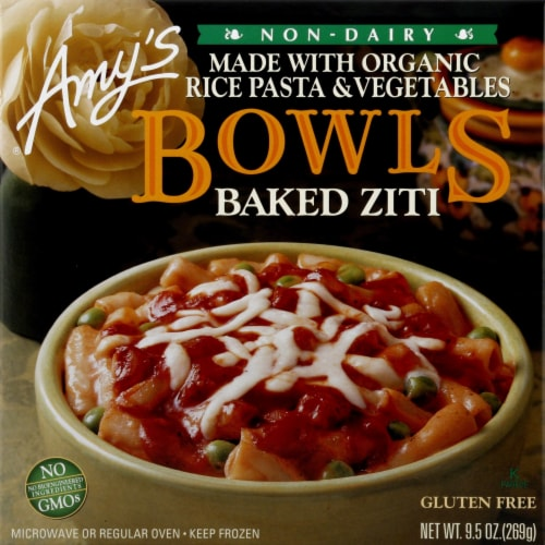 Amy's Gluten Free Baked Ziti Bowl Perspective: front