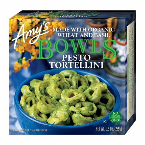Amy's Pesto Tortellini Bowl Frozen Meal Perspective: front