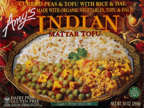 Amy's Indian Matter Tofu Perspective: front