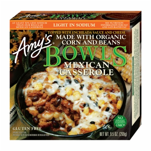 Amy's Organic Mexican Casserole Bowl Perspective: front