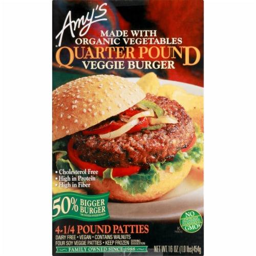 Amy's Quarter Pound Veggie Burger Perspective: front
