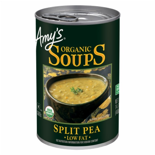 Amy's Organic Low Fat Split Pea Soup Perspective: front