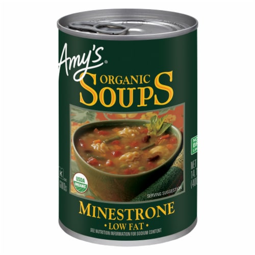 Amy's Organic Low Fat Minestrone Soup Perspective: front