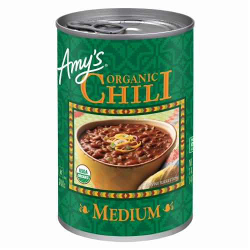 Amy's Organic Medium Chili Perspective: front