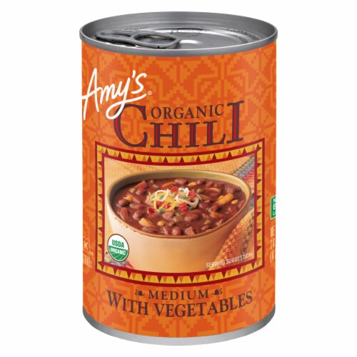 Amy's Organic Chili With Vegetables Perspective: front