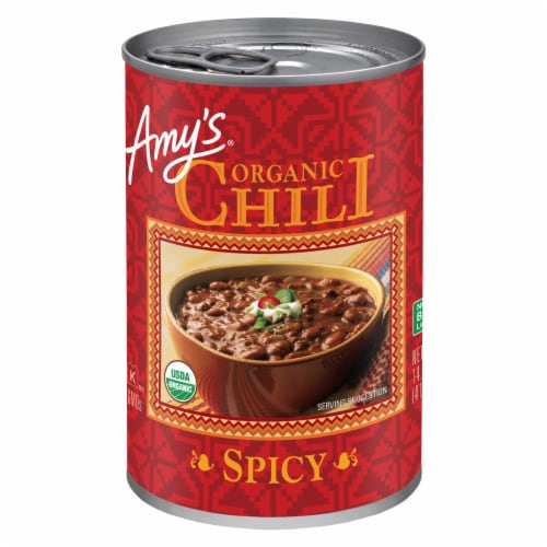 Amy's Organic Spicy Chili Perspective: front