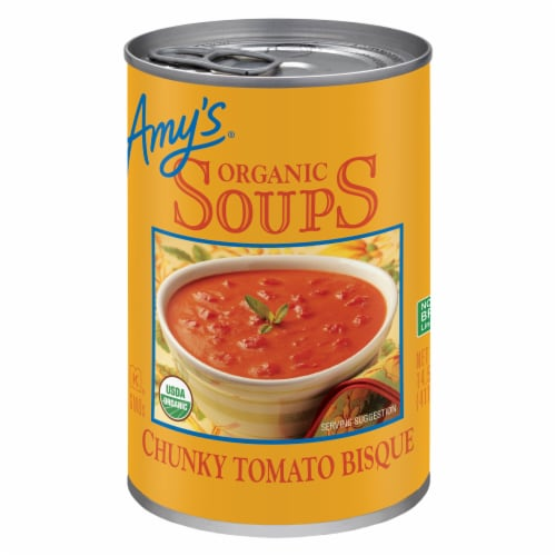 Amy's Organic Chunky Tomato Bisque Soup Perspective: front