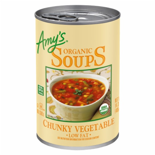 Amy's Organic Chunky Vegetable Soup Perspective: front
