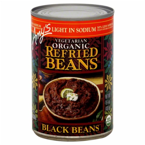 Amy's Organic Refried Black Beans Perspective: front