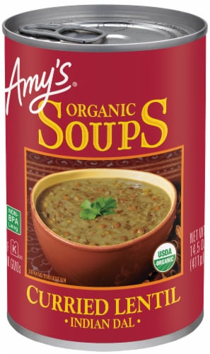 Amy's Organic Indian Dal Curried Lentil Soup Perspective: front