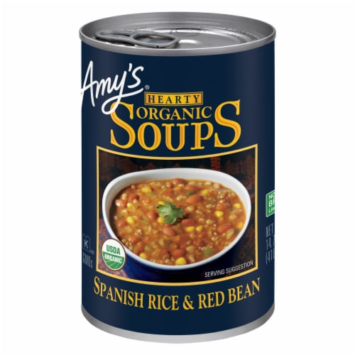 Amy's Organic Hearty Spanish Rice & Red Beans Soup Perspective: front