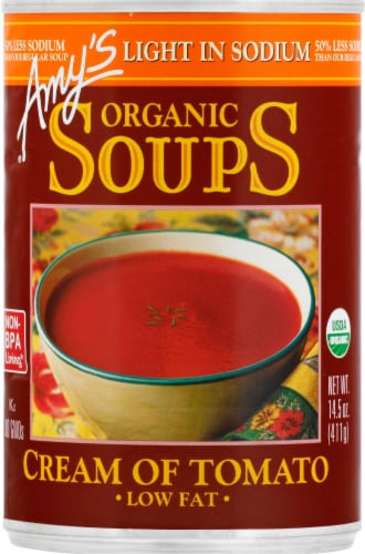Amy's Organic Cream of Tomato Soup Perspective: front