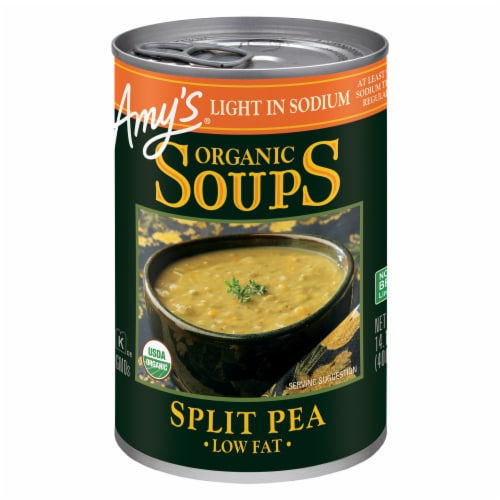 Amy's Organic Split Pea Soup Perspective: front