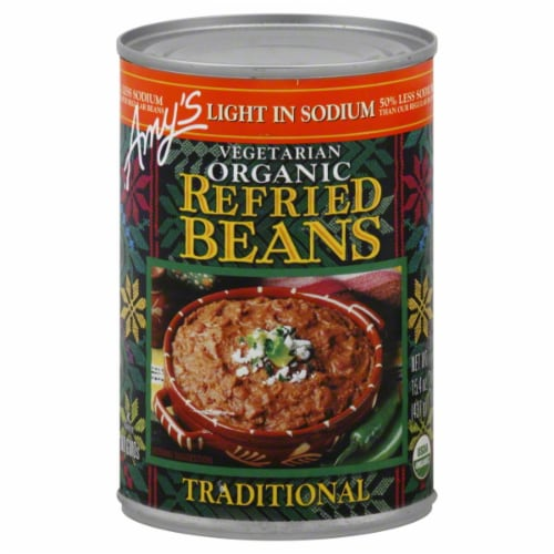Amy's Organic Refried Beans Perspective: front