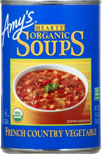 Amy's Organic Hearty French Country Vegetable Soup Perspective: front
