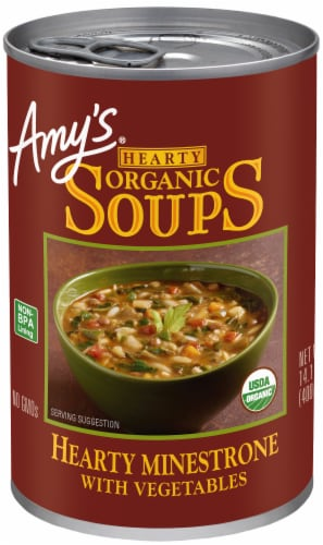 Amy's Organic Hearty Minestrone with Vegetables Perspective: front
