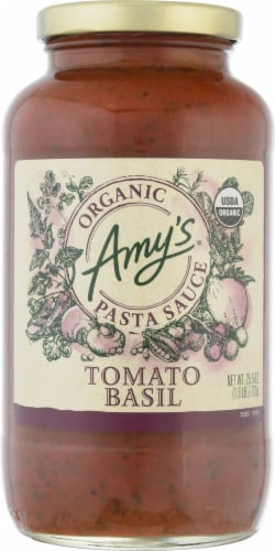 Amy's Organic Tomato Basil Pasta Sauce Perspective: front