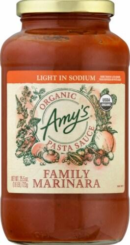 Amy's Organic Light in Sodium Family Marinara Pasta Sauce Perspective: front