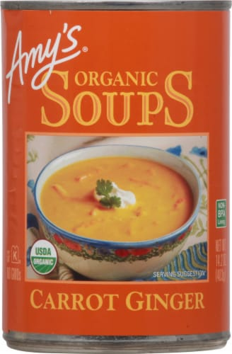 Amy's Organic Carrot Ginger Soup Perspective: front