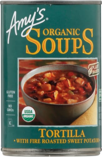 Amy's Organic Tortilla Soup Perspective: front