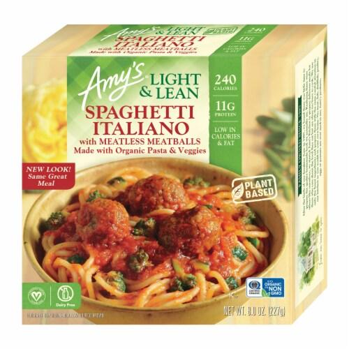 Amy's Lght & Lean Spaghetti Italiano Perspective: front