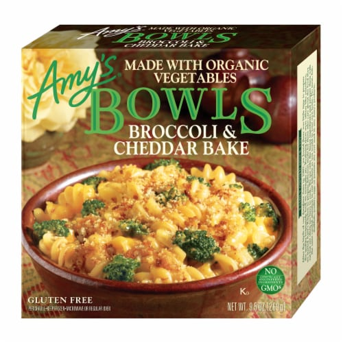 Amy's Broccoli Cheddar Bake Bowls Perspective: front