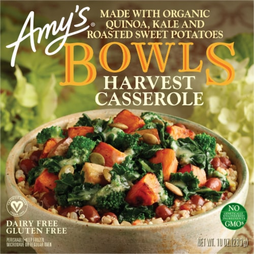 Amy's Harvest Casserole Bowl Frozen Meal Perspective: front