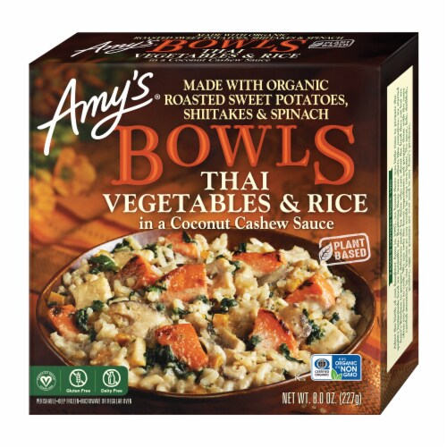 Amy's Thai Vegetables & Rice Bowl Perspective: front