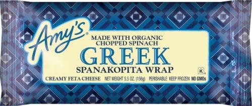 Amy's Greek Spanakopita Wrap Perspective: front