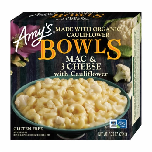 Amy's Organic Mac & 3 Cheese with Cauliflower Perspective: front