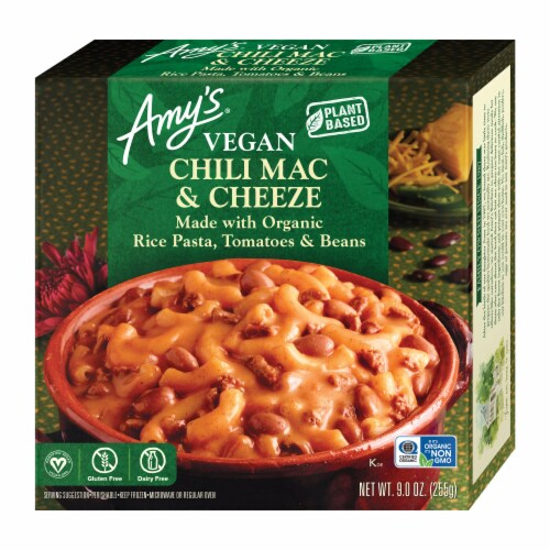 Amy's Vegan Chili Mac & Cheese Bowl Perspective: front