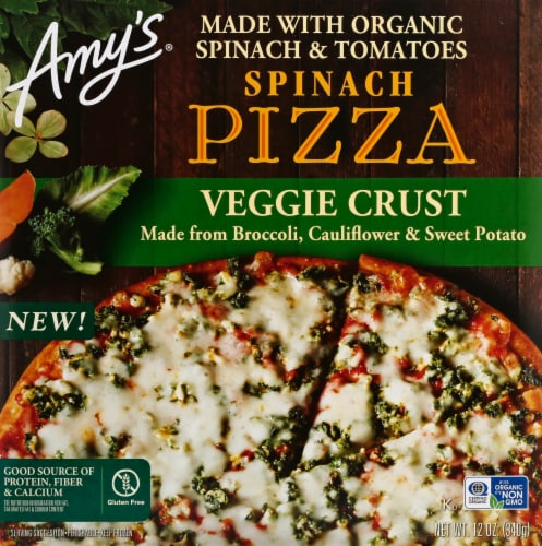 Amy's Veggie Crust Spinach Pizza Perspective: front