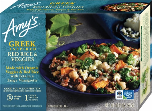 Amy's Greek Inspired Red Rice & Veggies Perspective: front