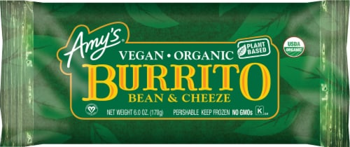Amy's Vegan Bean and Cheeze Burrito Perspective: front