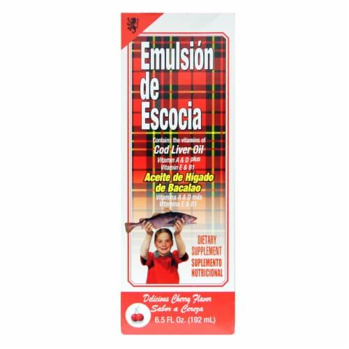 Emulsion de Escocia Cherry Flavor Cod Liver Oil Perspective: front