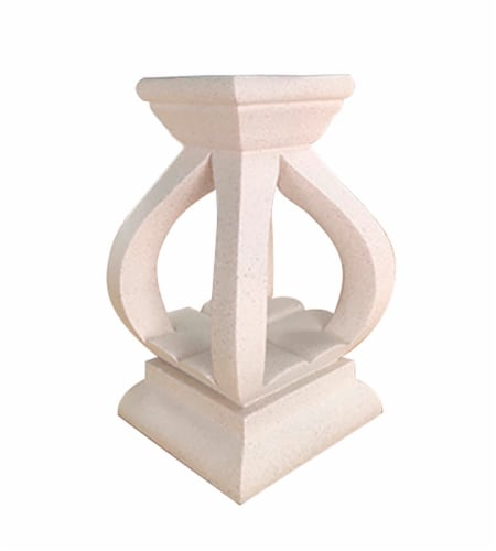 Echo Valley Mission Globe Pedestal - White Perspective: front