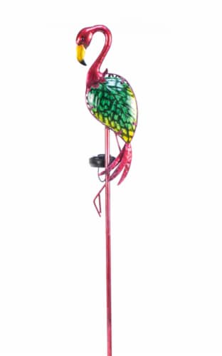 Echo Valley LunaLite Flamingo Stake - Assorted Perspective: front