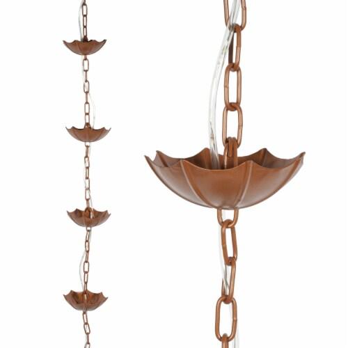 Echo Valley Lumina Umbrella Rain Chain - Copper Perspective: front