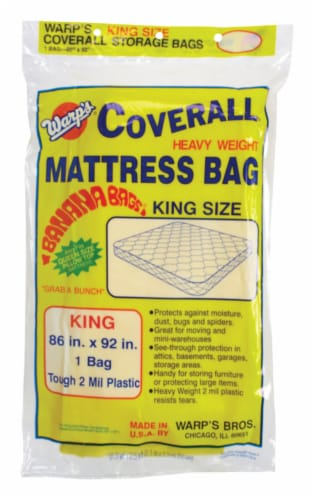 Warp's King Size Yellow Storage Bag - Case Of: 1; Perspective: front